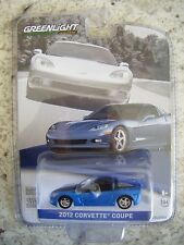GREENLIGHT GENERAL MOTORS COLLECTION SERIES 1 2012 CORVETTE COUPE (BLUE)