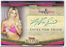 LACEY VON ERICH 2010 TNA TRISTAR ICONS AUTO AUTOGRAPH CARD!
