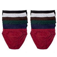12 Pk Mens Bikinis Briefs Underwear 100% Cotton Solid Knocker Size Medium 32-34