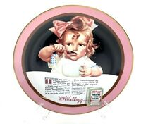 Kellogg's Nostalgia Collection Plate 1988 Girl With The Pink Bow Series #1