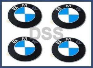 Genuine BMW Wheel Center Cap Emblems (x4) Insignia Badge 64.5mm OEM 36136767550