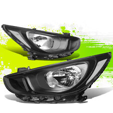 FOR 12-14 HYUNDAI ACCENT OE STYLE HEADLIGHT/LAMPS BLACK CLEAR (DRIVER+PASSENGER)