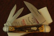 SCHATT & MORGAN by QUEEN USA AWESOME STAG WHARNCLIFF WHITTLER KNIFE NICE (2873)