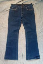 Fantasy Women's Medium Blue Bling Silver Stitch Boot Cut Jeans Size 12 Average