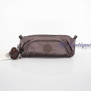 NWT Kipling AC7346 Cute Case Small Pouch Polyamide Nylon Popping Purple Metallic