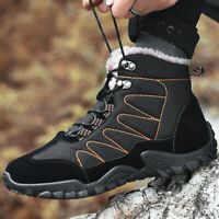 Men's Outdoor Snow Boots Waterproof Hiking Shoes Winter Warm High Top Cotton