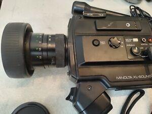 TESTED MINOLTA XL Sound 84 Super 8 movie Camera  & OEM Microphone & batteries