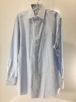 Charles Tyrwhitt Men's Slim Fit Striped Twill Dress Shirt Sky Blue 17.5/35 NWT @