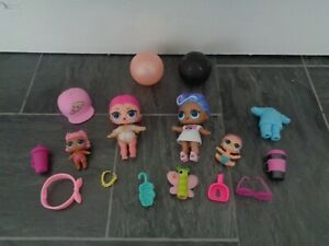 LOL doll bundle-2 dolls with clothes+ 2 lil sister doll+lots of accessories