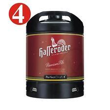 4 x Hasseröder Perfect Draft Premium Pils 6 Liter Fass 4,9 % vol. MEHRWEG 4,6€/L