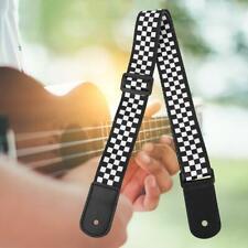 Adjustable Black and White Plaid Ukulele Shoulder Strap Sling For Ukulele Uke