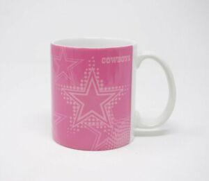 Dallas Cowboys Ladies Mug NFL Football Pink & White Romo Witten Bryant Claiborne
