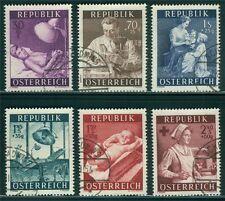 Österreich 1954 Michel Nr. 999-1004 Gesundheitsfürsorge gestempelt