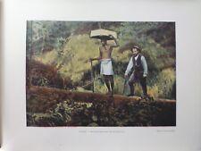 Guyane Francaise/Gravure 19°in folio couleur/ Kentzer:chercheur d'or
