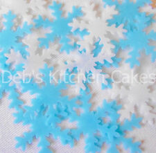 Snowflake Cake Decorations - 40 x Edible Wafer Christmas Cake Decorations