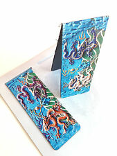 New Set of 2 Magnetic Bookmark Chinese Nine Dragon Blue Photo Free Shipping