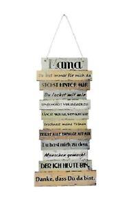 Danke Mama Sprüche Plankenschild 15 x 32 cm Wandbild Spruch Schild Muttertag