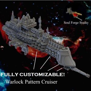 Soulforge Battlefleet Human Navy Warlock Cruiser Gothic