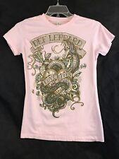 Tultex Fine Jersey Def Leppard LOVE BITES Pink Shirt Size Medium