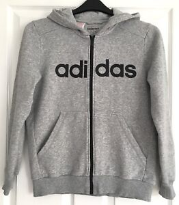 "Boys Adidas Full Zip Hoodie Track Jacket. 13-14years. 36"" Chest. Large Logo"