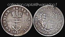 Inde de LOuest Britanique 1/16 Dollar 1822 Anchor Coins