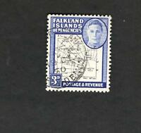 1948 Falkland Islands Dependencies SC #IL4 Map Θ used stamp
