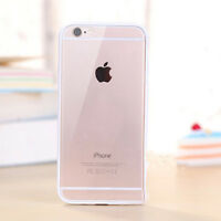 Hard Matte Clear Back Case with Soft Silicone TPU Bumper Cover for iPhone 5 6 7