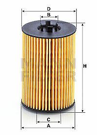 Mann-filter Oil Filter HU7020z fits VW GOLF MK VII BA5,BV5 2.0 TDI