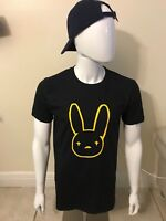 Bad Bunny men's soft cotton black t shirt (La Nueva Religion Bunny).