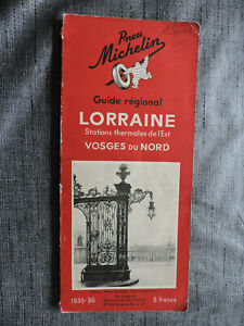 Guide Michelin LORRAINE Stations Thermales Vosges du Nord - Edition 1935-36