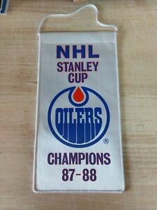 NHL Edmonton Oilers 1987-88 Stanley Cup Champs Mini Banner