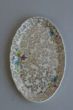 More details for vintage lord nelson elijah cotton oval plate