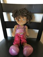 "NEW Russ Princess Pals Samara  African American Girl Doll Stuffed Plush Toy 14"""