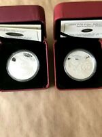 (2) RCM AGRICULTURE TRADE AND COAL MINING TRADE $20 FINE SILVER COINS