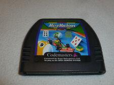 SEGA GENESIS GAME MICRO MACHINES CARTRIDGE ONLY CDX JVC X EYE CART CODESMASTERS