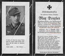 STERBEBILD  AVIS DE  DECES  SOLDAT  ALLEMAND    1946   ( 197 )