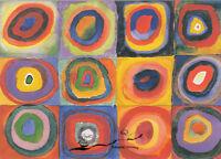 Kunstkarte// Postcard Rückblick Wassily Kandinsky