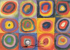 Kunstkarte:  Kandinsky - Farbstudie - Quadrate mit konzentrischen Kreisen