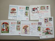 Five DELUXE registered MUSHROOMS postal stationery