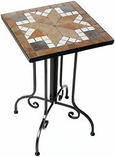 Giardino Mosaik Beistelltisch Tisch mehrfarbig quadratisch 35x57x35 cm AY 2610