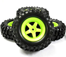 A960022 1/10 OFF ROAD ROCK CRAWLER Ruote e Pneumatici 4 luce verde in plastica 5 Spoke