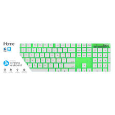 iHome Translucent Wireless Full Size Keyboard - Green