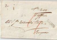 1831 PREFILATELICA  DA  GANDINO  X BERGAMO