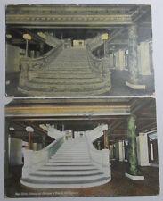 1907-17 POSTCARDS MAIN ST ENTRANCE & STAIRCASE OF ROTUNDA COURT HOUSE FT WAYNE