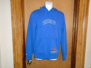 Philadelphia 76ers Mitchell & Ness Men's Washed Out Pullover Hoody Small NWT