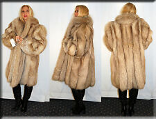 New Amber Fox Fur Coat Size Extra Large XL 14 16 Efurs4less