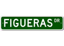 FIGUERAS Street Sign - Personalized Last Name Signs