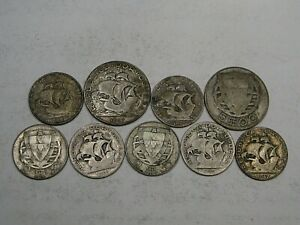9 Silver Coins of Portugal 36.8 grams - Ship.  #49