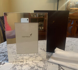 New PAPYRUS Large Smooth Silver Album with Box and Dust bag - 100 Photos