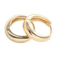 Vintage Mens jewelry Hoop earrings Yellow Gold filled round earings wholesale